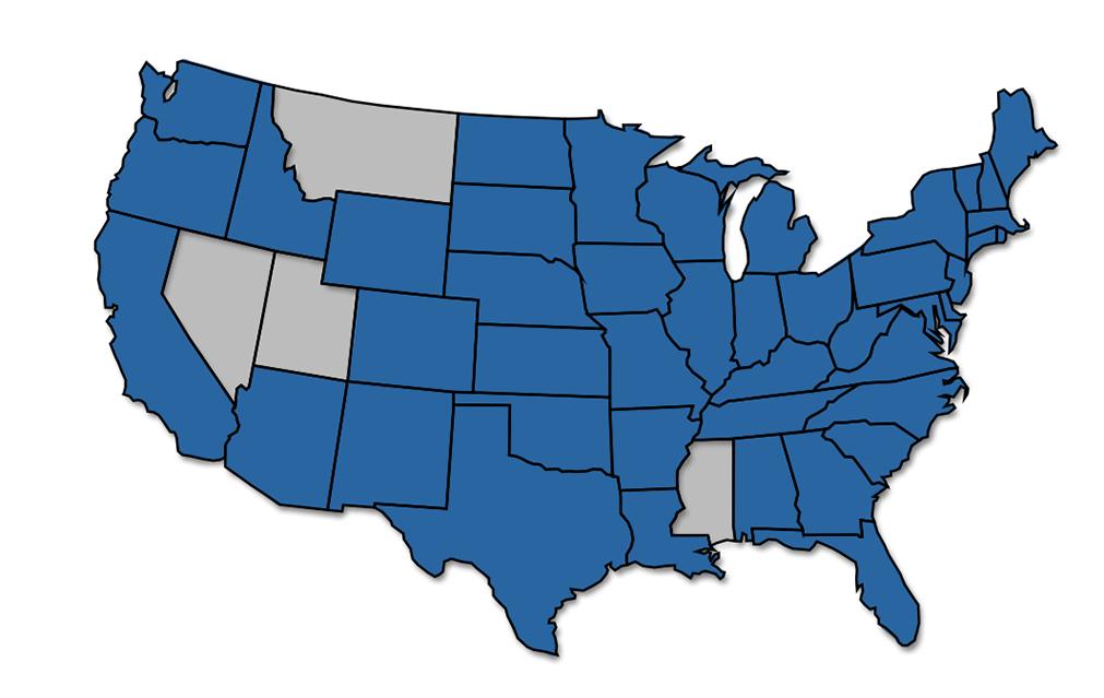43 states